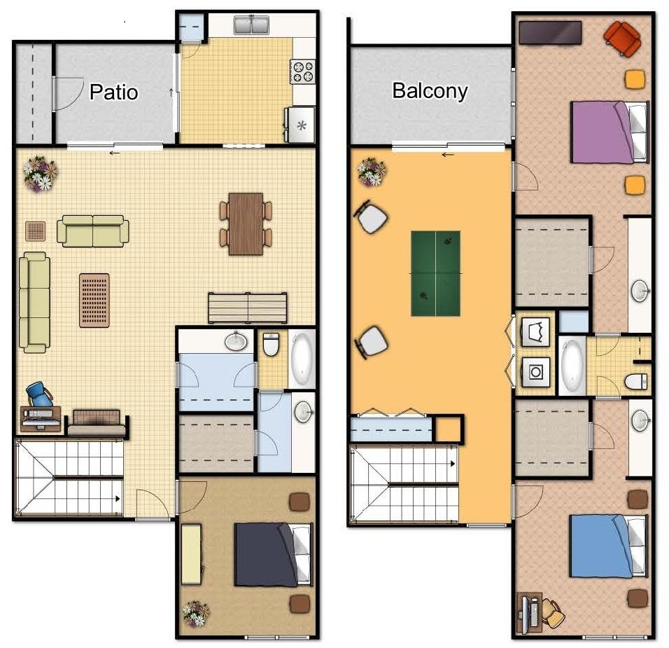 Santa Monica Apartments Floor Plans